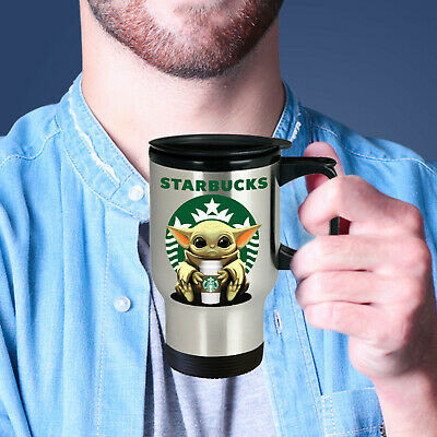 $27.97 • Buy Baby Yoda STARBUCKS Cute Fun STARWARS YODA STARBUCKS Coffee Travel Mug