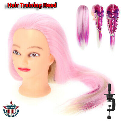 $19.62 • Buy Pro Colorful Hair Practice Head Mannequin Hairdressing Training Head + Clamp