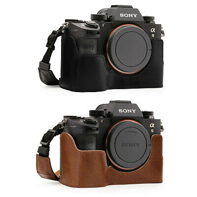$ CDN52.12 • Buy MegaGear Sony Alpha A7RIII, A9, A7III Genuine Leather Camera Half Case And Strap