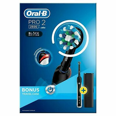 View Details Braun Oral-B PRO 2 2500 Electric Toothbrush Rechargeable Power - Black Edition • 39.99£