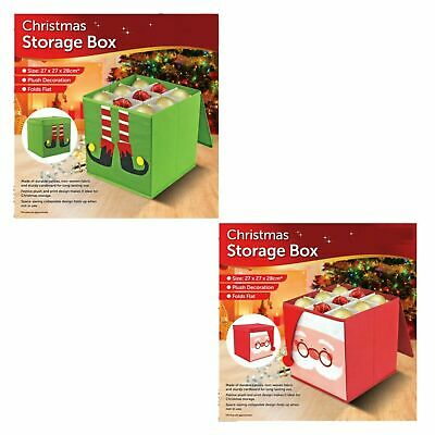Christmas Tree Bauble Decorations Safe Storage Box Non-Woven Fabric Folds Flat • 8.95£