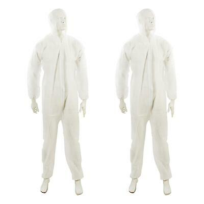 £15.63 • Buy 2x Disposable Hooded Coverall Paper Suit Protective Overall. DIY Spray Paint XL