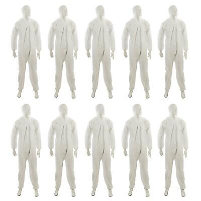 £68.99 • Buy 10x Disposable Hooded Coverall Paper Suit Protective Overall. DIY Spray Paint XL