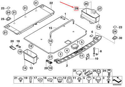 $323.85 • Buy BMW 5 Touring E39 Right Trunk Tray 51478187266 8187266 NEW GENUINE