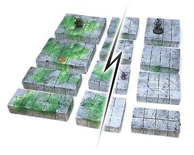 AU33.38 • Buy Mossy Reversible Dungeon Tiles Set Dungeons And Dragons Wargame Terrain 25mm Rpg