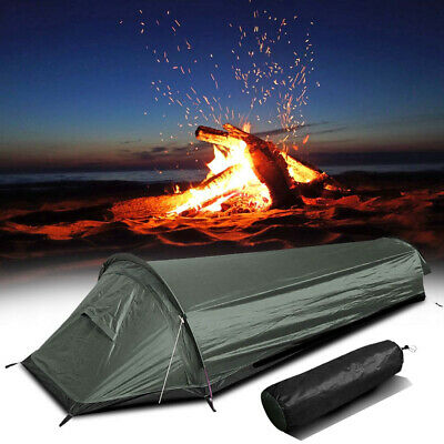 AU71.99 • Buy Camping Tent Single Person Sleeping Bag Beach Hiking Outdoor Gear Anti-mosquito