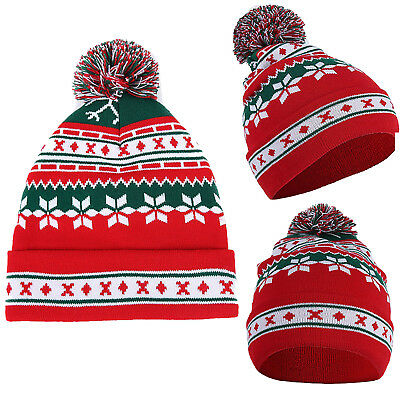 Unisex Baggy Knitted Ski Cap Novelty Beanie Hat Casual Winter Warm Outwear Gifts • 4.49£