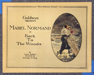 $200 • Buy Back To The Woods '18 Mabel Normand Goldwyn Comedy Original Silent Title Card