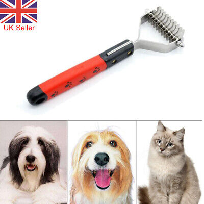 Professional Pet Dog Cat Comb Brush Grooming Undercoat Rake Comb Dematting Tool • 4.69£