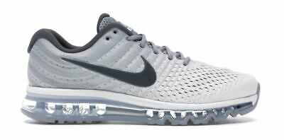 $108.99 • Buy Mens Nike Air Max 2017 Athletic Running Shoes 849559-101 Wolf Grey