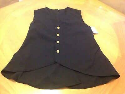 $17.50 • Buy Pirate Costume Gentleman's Sleeveless Vest Black Gold Colonial US Theatrical