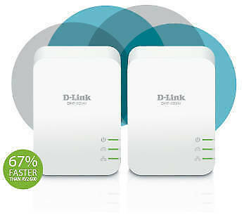 AU95.90 • Buy D-Link DHP-601AV PowerLine AV2 1000 Gigabit Starter Kit
