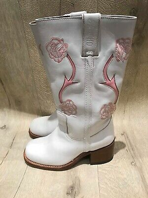 Sancho Womens Girls Cowboy Boots Pre Owned UK Size 3 • 65£