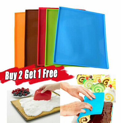 Silicone NonStick Baking Mat Sheet Oven Tray Liner Thick Work Mat/Pastry/Pizza • 2.99£