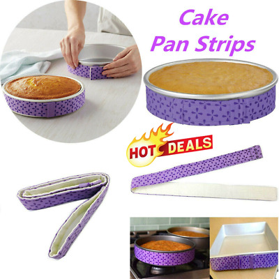 WILTON BAKE-EVEN STRIPS Set PURPLE - Bake Moist Level K2I2 W6G5 Cakes Suppl M2C6 • 2£