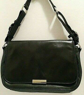 $ CDN27.98 • Buy Danier Adjustable Strap Leather Purse Handbag Shoulder Bag Black Great Condition