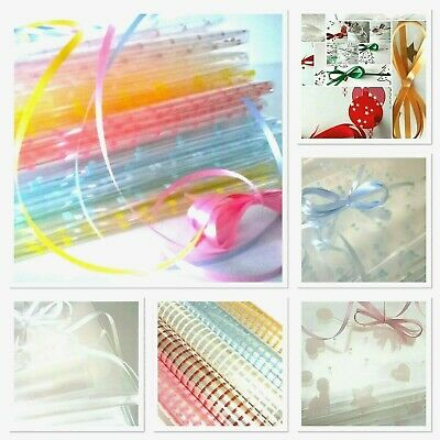 £1.99 • Buy 💜 Clearance Cellophane Hamper Gift Wrap End Of Roll + Free Ribbon Bargain
