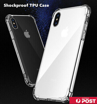 AU5.49 • Buy Clear Shockproof Bumper Back Case Cover For IPhone 12 11 Pro XS MAX X XR 7 Plus