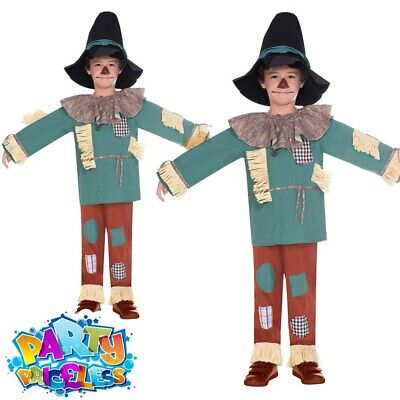 Kids Wizard Of Oz Scarecrow Costume Boys Girls World Book Day Fancy Dress Outfit • 14.99£