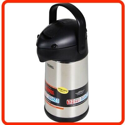 AU68.95 • Buy 2.5L Thermos Stainless Steel Insulated Air Pump Pot Flask Portable Travel Picnic