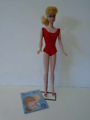 $ CDN191.86 • Buy Vintage Blond Ponytail Barbie #6 With Braid, Stand, Booklet