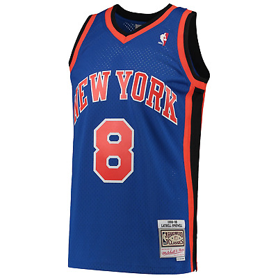 AU159.95 • Buy Latrell Sprewell New York Knicks Mitchell & Ness NBA Swingman Jersey - Blue