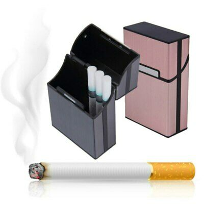 Tobacco Holder Aluminum Pocket Box Storage Container 20 Cigarette Case Lighter • 3.02£