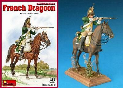 Miniart 16016 1:16th Scale Mounted Figure Kit French Dragoon Napoleonic Wars • 23.99£