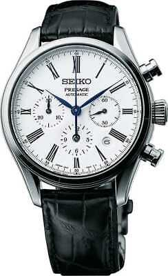 $ CDN2282.70 • Buy New Seiko Presage Automatic Chronograph Black Leather Strap Men's Watch SRQ023