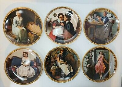$ CDN81.45 • Buy 6 Norman Rockwell Rediscovered Women Knowles Bradford Exchange Decorative Plates