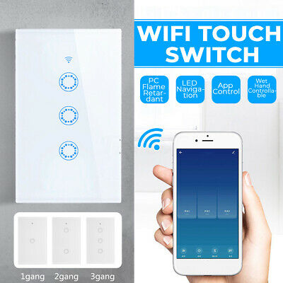 AU21.99 • Buy 1100W Smart WiFi Touch Light Wall Switch Panel For Alexa Google APP 1/2/3 Gang