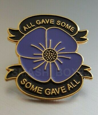 2020 Animals In War Purple Poppy UK Metal Enamel Lapel Pin Badge Brooch • 3.99£