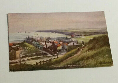 Printed Postcard Of Robin Hood's Bay From North, North Yorkshire By Ross, Whitby • 3£