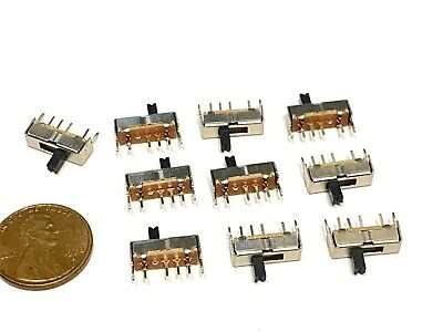 $6.95 • Buy 10 Pieces SK13D07VG4 4pin Mini Micro Small Tiny Slide Switch PCB On Off 1P3T B5