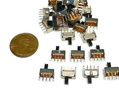 $7.95 • Buy 25 Pieces SS12D07  3pin Mini Micro Small Tiny Slide Switch PCB On Off 1P2T B10