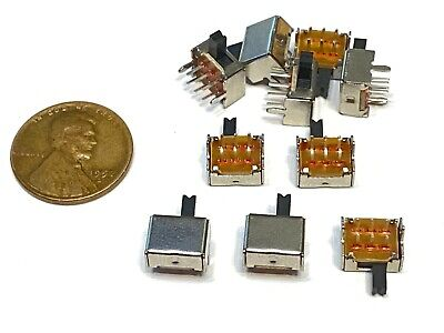 $6.95 • Buy 10 Pieces SK22D07 2P2T 6pin Mini Micro Small Slide Switch PCB On Off B14