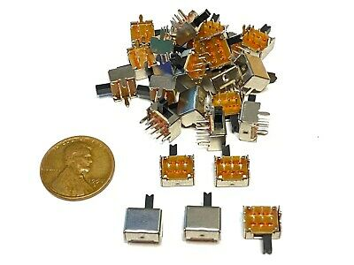 $7.95 • Buy 25 Pieces SK22D07 2P2T 6pin Mini Micro Small Slide Switch PCB On Off B14