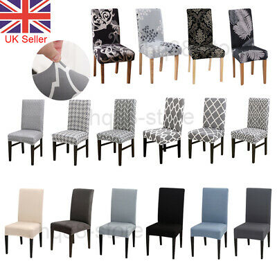 Dining Chair Seat Covers Spandex Slip Banquet Home Protective Stretch Covers UK • 4.76£