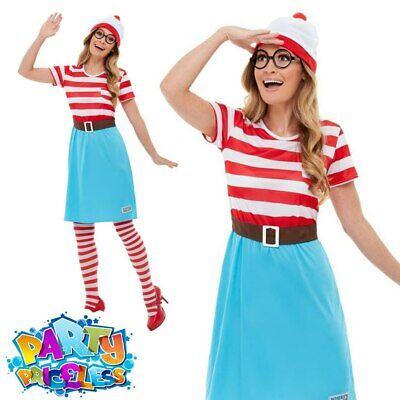 £27.99 • Buy Adult Ladies Wheres Wally Wenda Costume Book Day Week Fancy Dress Outfit
