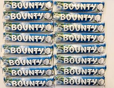 BOUNTY MILK CHOCOLATE 57g X 16 Bars (Each Bar Has 2 X 28.5g) EXP 11/01/21 • 7.99£