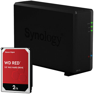 Synology DS118 1-BAY DiskStation Assembled With A 2TB Western Digital NAS Drive • 243.12£