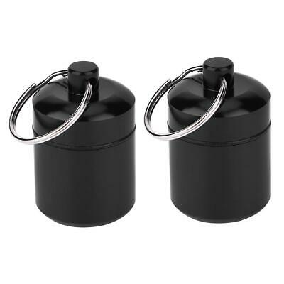$2.53 • Buy Mini Waterproof Metal 2x Medicine Pill Box Case Bottle Holder Container Keychain