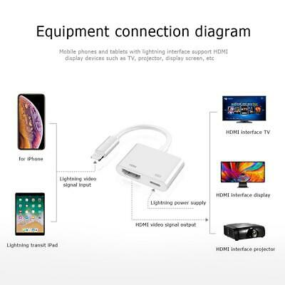 For IPhone 11 TV Projector 8 Pin To HDMI Digital AV Cable Adapter Converter • 8.20£