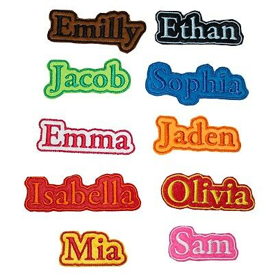 Personalised Embroidered Name Frame Patch Badge Many Colours Iron On Sew On A1 • 2.99£