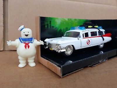 Ghostbusters CADILLAC ECTO 1 DIECAST 5in Model +Stay Puft Marshmallow Man * NEW  • 17.95£