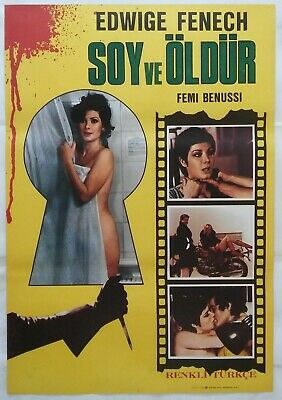 Strip Nude For Your Killer 1975 Edwige Fenech Giallo Vintage Movie Poster • 15.75£