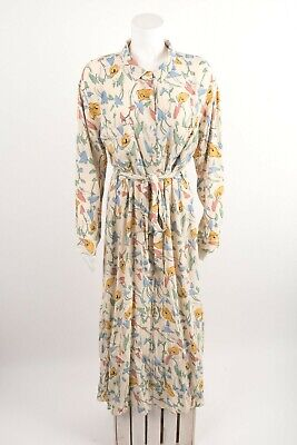 $55.20 • Buy Zara Womens Ecru Print Midi Shirt Dress Sz XL Floral Front Buttons NWT 8219/449