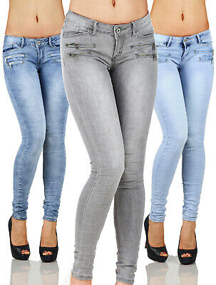 £15.99 • Buy Sexy Women's Stretchy Low Waist Hipsters With Zippers Trousers Skinny Slim L 081