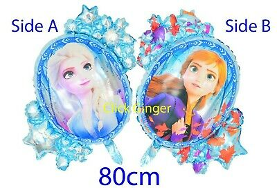 AU3.95 • Buy Frozen 2 New Elsa Anna Mirror Foil Balloon (x1) 80cm Helium Party Decoration