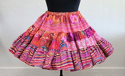 $78 • Buy SQ5KF162  Square Dance Skirt  Waist: 28 -42   Length: 20   Flirty Skirts By Rita